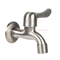 304 Stainless Steel G1/2'' Fast On Drinking Water Tap Bathroom Bibcock SUS304 Wash Basin Faucet brushed finish wall mounted