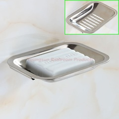 Bathroom Stainless Steel Fancy Soap Dish Shower Soap Tray Soap Case Soap Box Soap Plate Soap Basket polished finish wall mounted