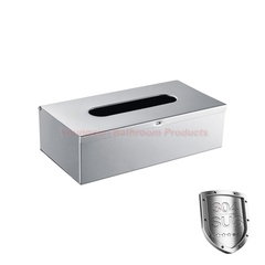 Hotel Supplies 304 Stainless Steel Wall Mounted Table Napkin Tissue Box Hand Tissue Paper Holder mirror finish