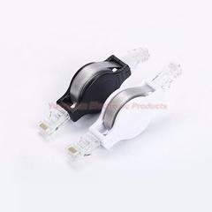 1.5m 4.9FT Portable Retractable Ethernet LAN RJ45 Internet Network Cable for Computer Laptop Router Black 1.5m