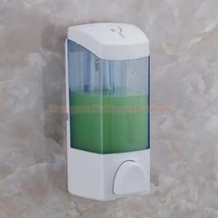 300ml ABS Plastic Single Soap Dispenser Shower Gel Dispenser Lotion Dispenser Bath Cream Dispenser white + blue wall mounted
