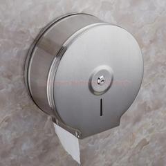 Commercial Stainless Steel Lockable Jumbo Toilet Paper Roll Holder Hotel Toilet Tissue Dispenser brushed finish round