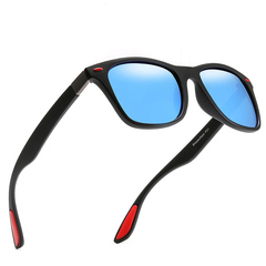 Classic Polarized Sunglasses Men Square Frame Sun Glasses Male Driving Goggles UV400 Eyewear Shades C04 One Size