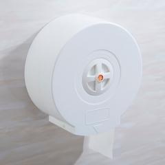 Commercial ABS Plastic Jumbo Toilet Paper Holder Tissue Paper Roll Dispenser Hand Towel Dispenser white round