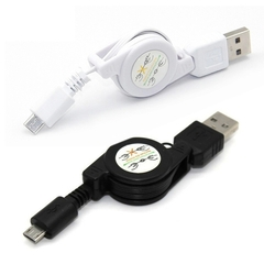 80CM Data Cable Retractable Micro USB Data Cable Sync Charger Cable for Android iphone Xiaomi Huawei Black 80cm
