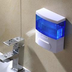 300ml ABS Plastic Manual Soap Dispenser Bath Cream Dispenser Bath Gel Holder Hand Sanitizer Soap Box ocean blue wall mounted