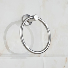 Bathroom Lavatory Wall Mounted 304 Stainless Steel Towel Ring SUS304 Bath Towel Holder mirror finish round