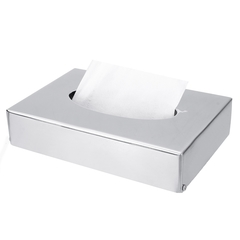 Stainless Steel Tissue Container Tissue Box Cube Hotel Bedroom Office Towel Napkin Paper Holder mirror finish