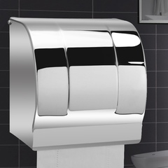 Stainless Steel Roll Paper Tissue Holder Tissue Box for Home Bathroom Kitchen Toilet Paper Dispenser mirror finish wall mounted