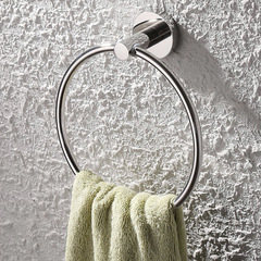 Bathroom Lavatory 304 Stainless Steel Chromed Bath Towel Ring SUS304 Round Towel Holder Towel Hanger Wall Mounted round