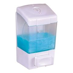 500ml Lockable ABS Plastic Liquid Soap Dispenser Bathroom Shower Gel Holder Manual Shampoo Dispenser white wall mounted