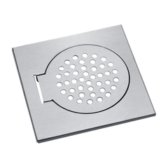 6-inches 15 x 15CM Stainless Steel Bathroom Floor Drain Cover Balcony Floor Strainer Grating Drainer polished finish square