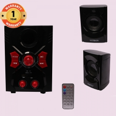 VITRON V036 Home Theater Sound System 2.1 Multimedia Bluetooth Speaker Subwoofer black 25w V036