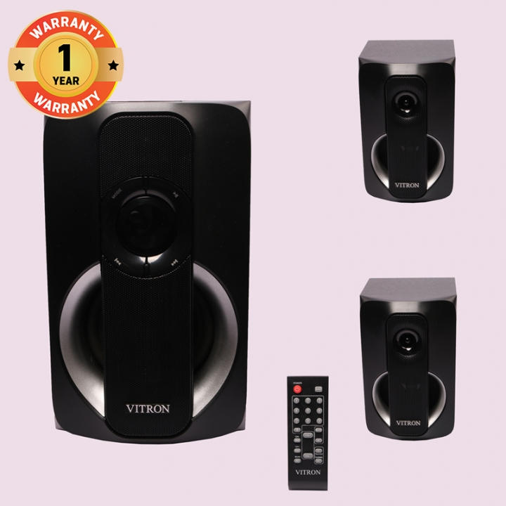 VITRON V501D Home Theater Sound System 2.1 Multimedia Bluetooth Speaker Subwoofer black 38W V501D