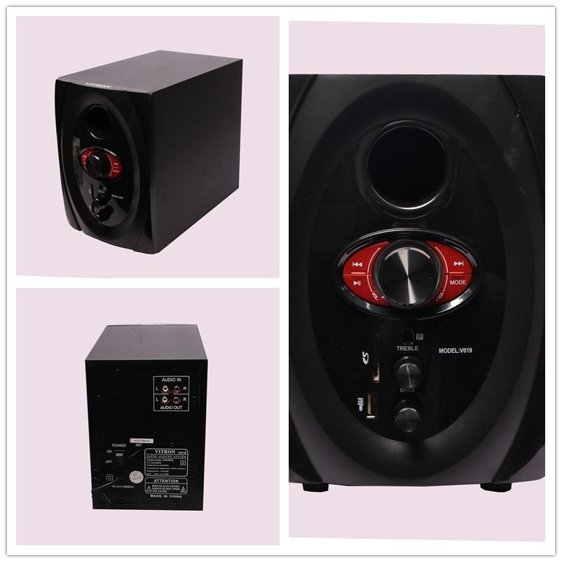 VITRON V019 Home Theater Sound System 2.1 Multimedia Speaker Subwoofer black 25w V019 1