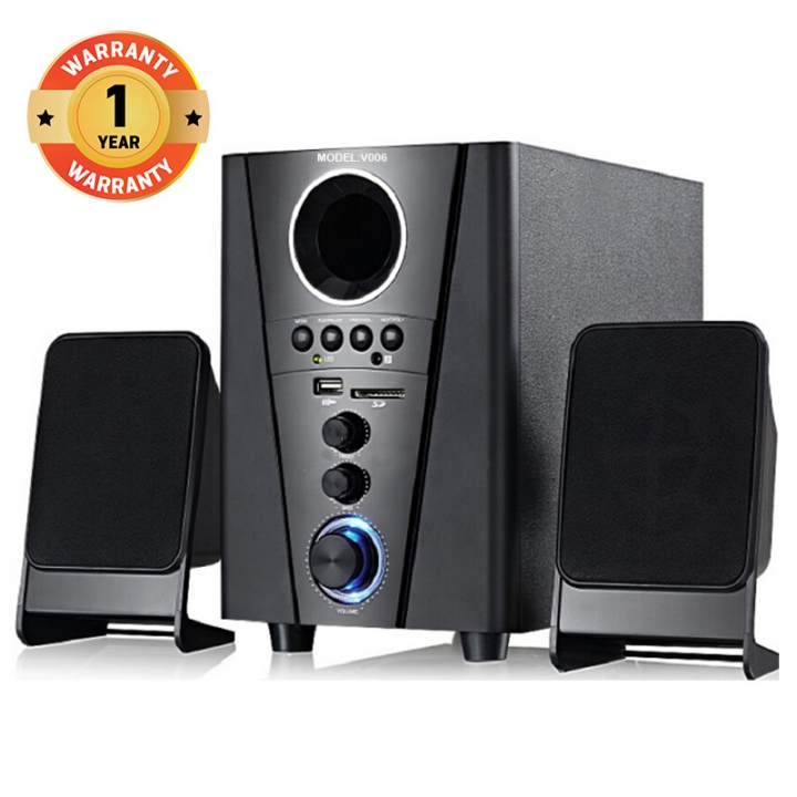 VITRON V006 Home Theater Sound System 2.1 Multimedia  Bluetooth Speaker Subwoofer black 25W V006