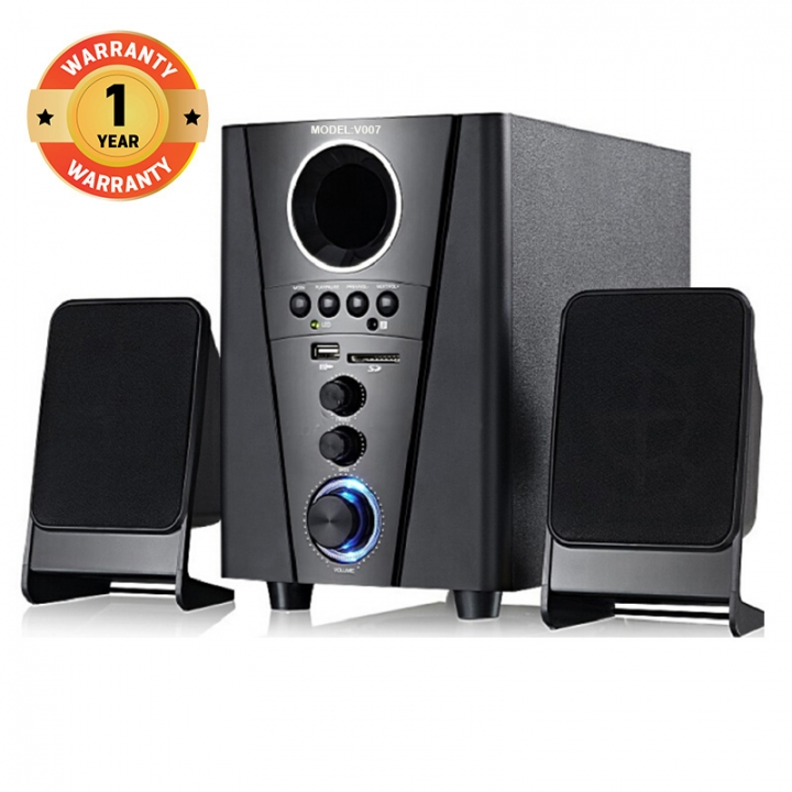 VITRON V007 Home Theater Sound System 2.1 Multimedia Speaker Subwoofer black 25w VOO7