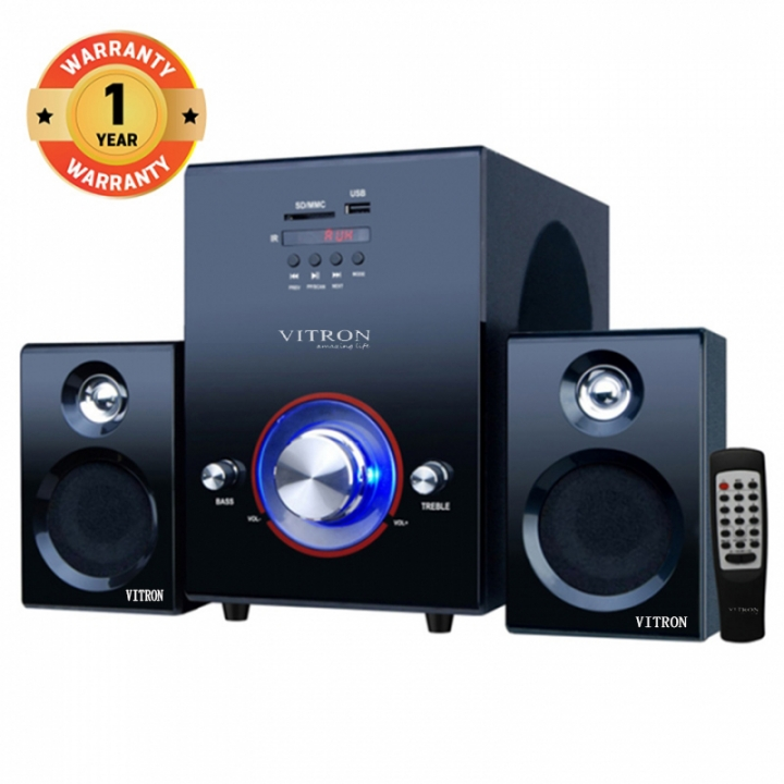 VITRON V503D Home Theater Sound System 2.1 Multimedia Bluetooth Speaker Subwoofer black 35W V503D
