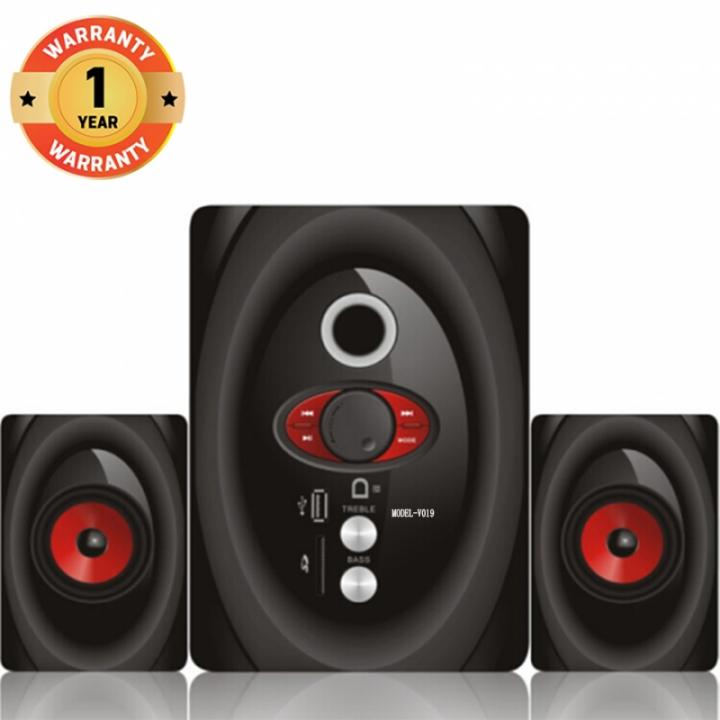 VITRON V019 Home Theater Sound System 2.1 Multimedia Speaker Subwoofer black 25w V019
