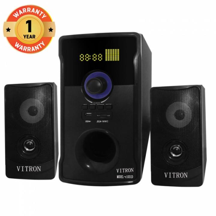 VITRON V1031 Home Theater Sound System 2.1 Multimedia Bluetooth Speaker Subwoofer black 90w V1031