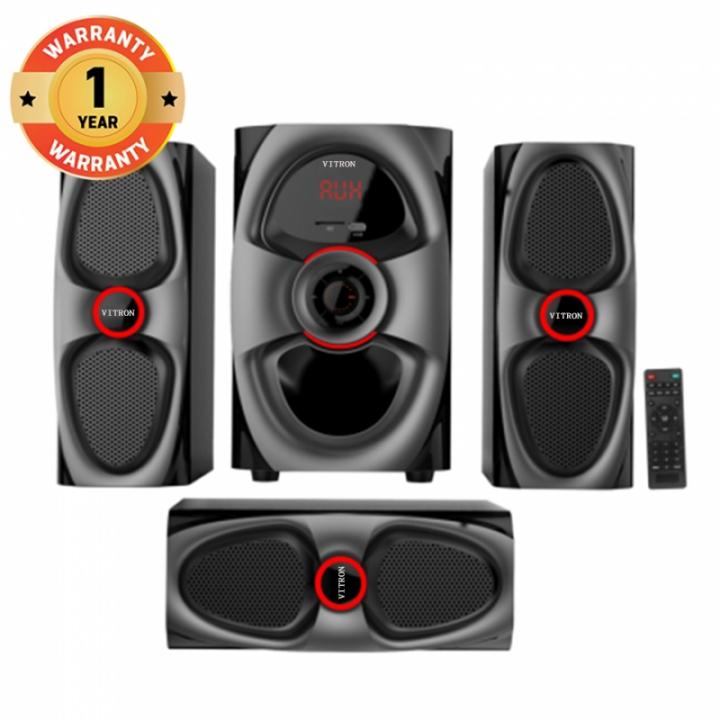 VITRON V631D Home Theater Sound System 2.1 Multimedia Bluetooth Speaker Subwoofer black 90W V631D