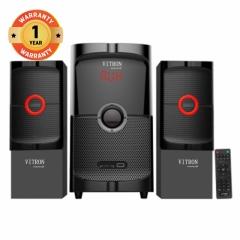 VITRON V504H Home Theater Sound System 2.1 Multimedia Bluetooth Speaker Subwoofer black 55W V504H