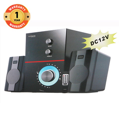 VITRON V355D Home Theater Sound System BT 2.1CH  SD Speaker Subwoofer black 20W V355D