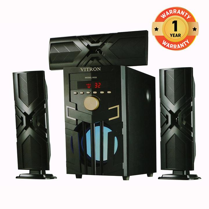 VITRON V633 Home Theater Sound System  Bluetooth Speaker Subwoofer black 60w V633