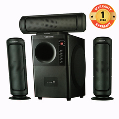 VITRON V635 Home Theater Sound System 3.1 Multimedia Bluetooth Speaker Subwoofer black 60w V635