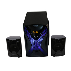 VITRON V038 Home Theater Sound System 2.1 Multimedia Bluetooth Speaker Subwoofer with Radio black 32w V038