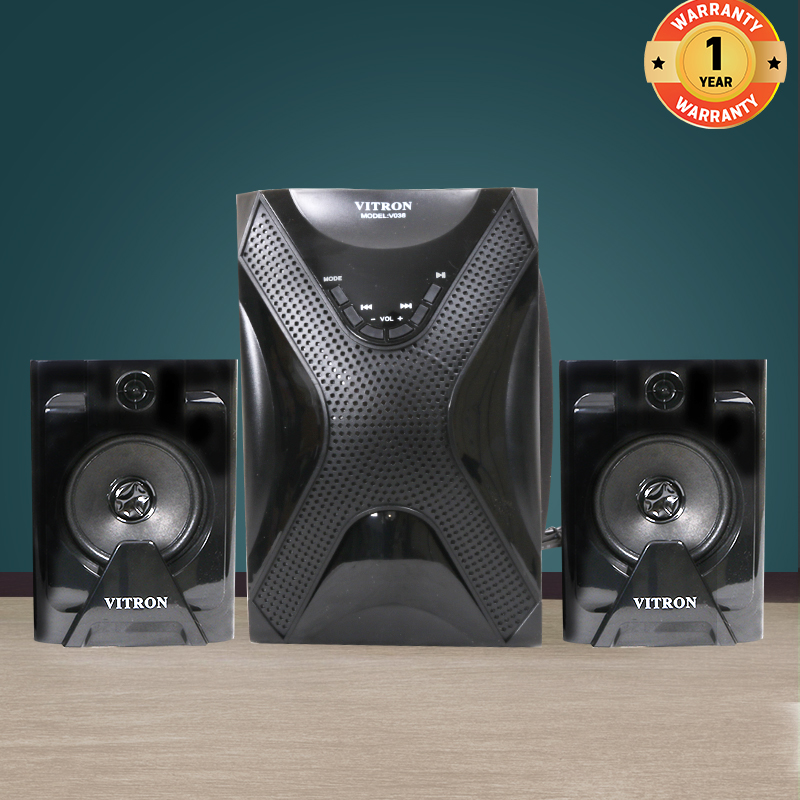 VITRON V038 Home Theater Sound System 2.1 Multimedia Bluetooth Speaker Subwoofer with Radio