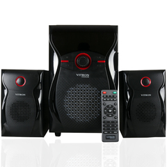 VITRON V604 Home Theater Sound System 2.1 Multimedia BT Full Functional Remote Speaker Subwoofer black 65W v604