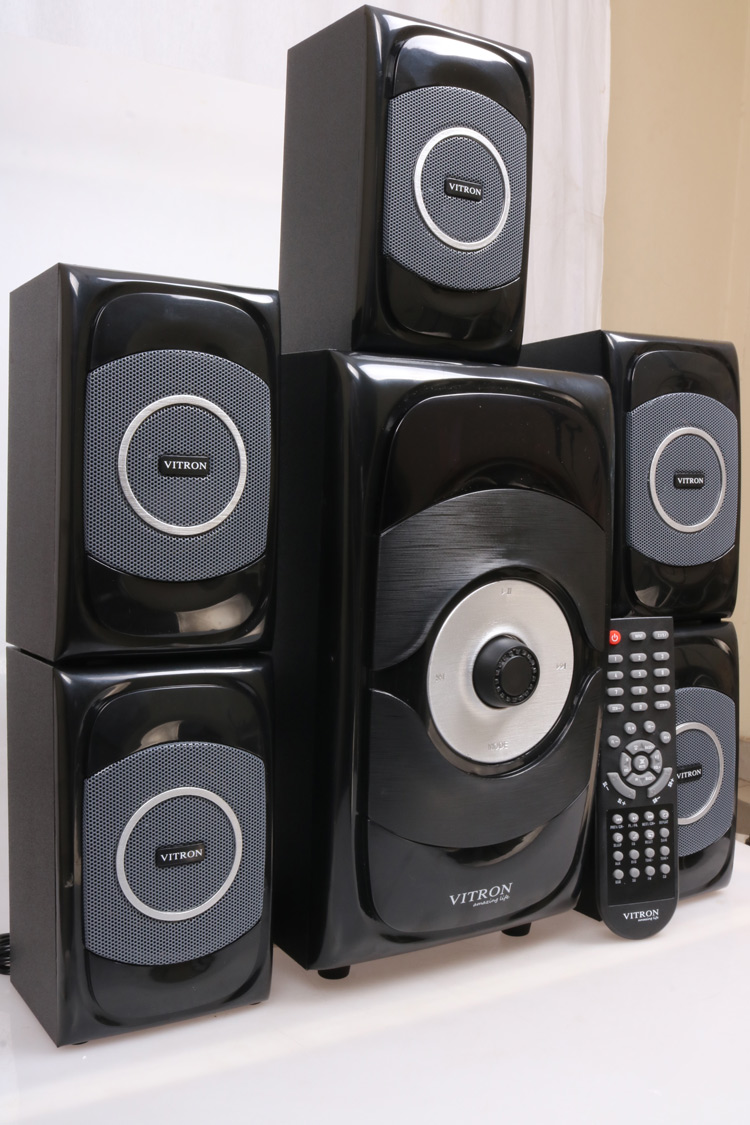 VITRON V5108 Sound System 2.1 Functional Remote Speaker Subwoofer black 85w V5108 1