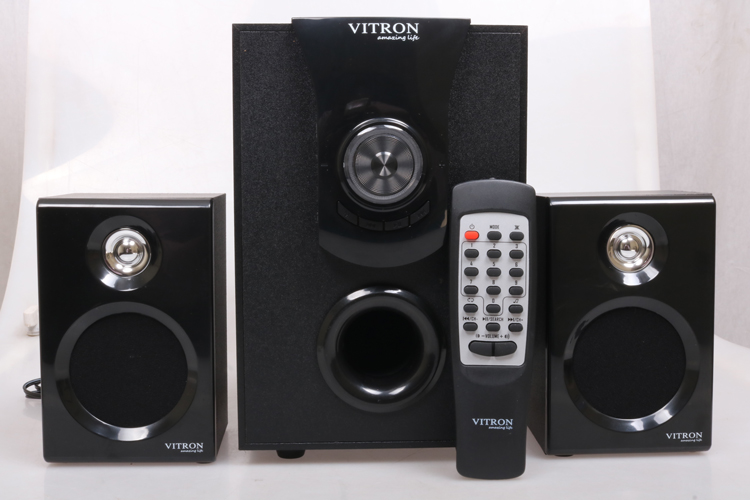 VITRON V411D Sound System 2.1 Functional Remote Speaker Subwoofer black 25w v411d 2