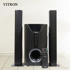 VITRON V527 Sound System 2.1 Functional Remote Speaker Subwoofer black 55w v527