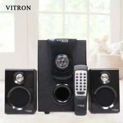 VITRON V411D Sound System 2.1 Functional Remote Speaker Subwoofer black 25w v411d