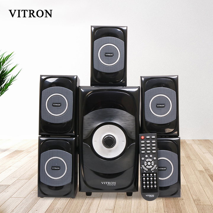 VITRON V5108 Sound System 2.1 Functional Remote Speaker Subwoofer black 85w V5108