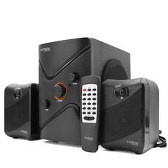 VITRON V361 Home Theater 2.1CH Stereo Multimedia Speaker System Subwoofer Black 20w V361