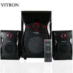 VITRON V604 2.1Ch Bluetooth Multimedia Speaker Home Theater Sound System BT Remote Speaker Subwoofer black 65W v604