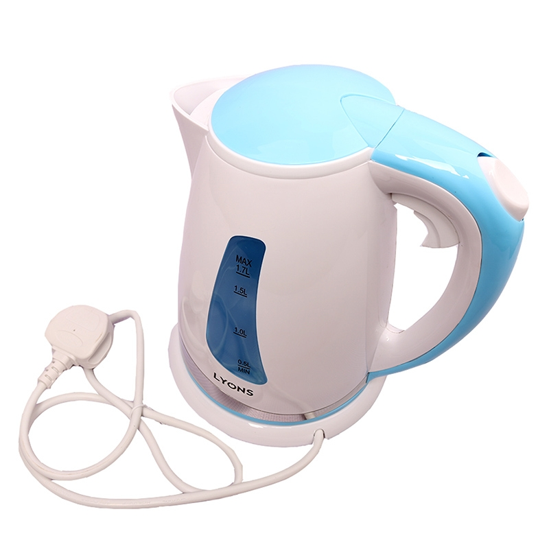 Lyons Electric kettle boiler hot water heating Household heater Blue white One size 8