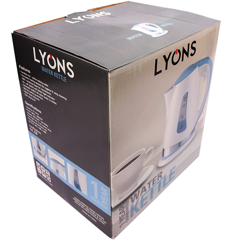 Lyons Electric kettle boiler hot water heating Household heater Blue white One size 10