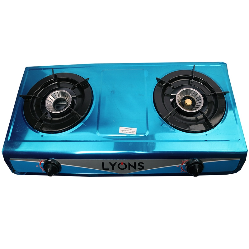 Lyons Stainless steel body Gas Stove Double Burner blue as from picture 8