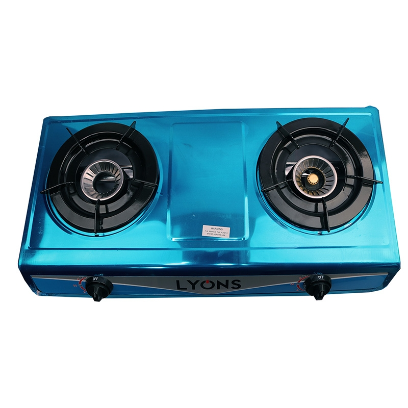 Lyons Stainless steel body Gas Stove Double Burner blue as from picture 6