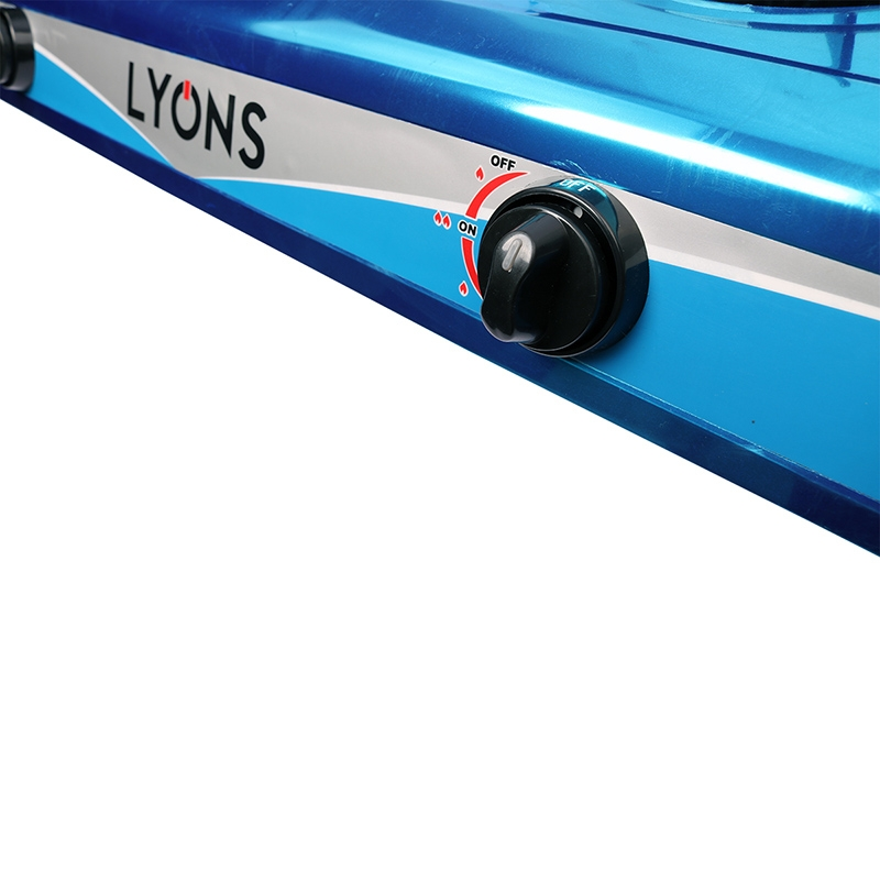 Lyons Stainless steel body Gas Stove Double Burner blue as from picture 1
