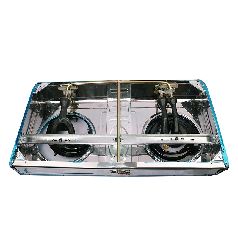 Lyons Stainless steel body Gas Stove Double Burner blue as from picture 4