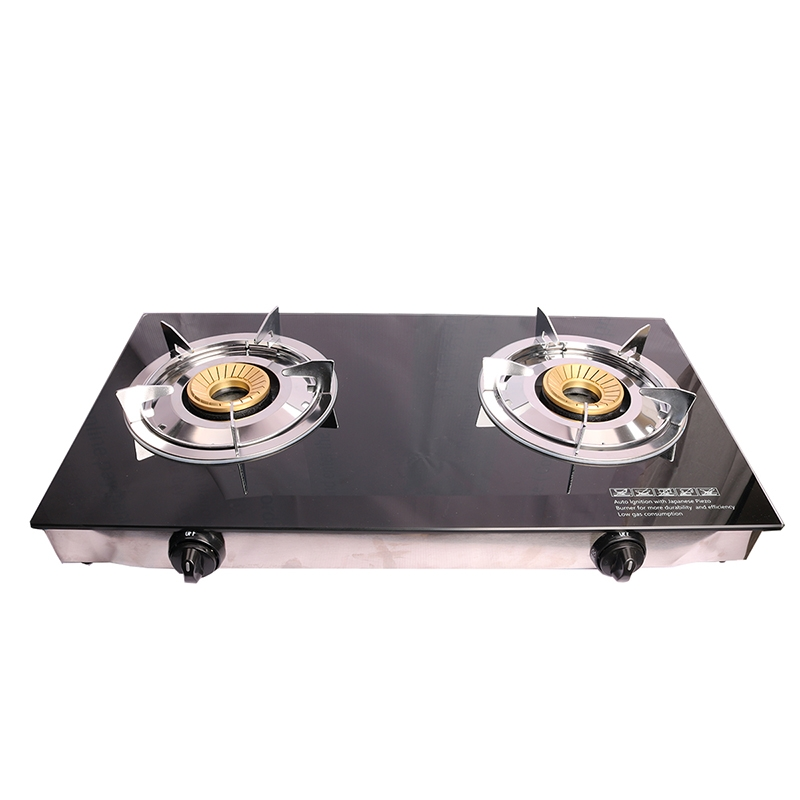 Lyons Glass Gas Double Burner Black as from picture 1