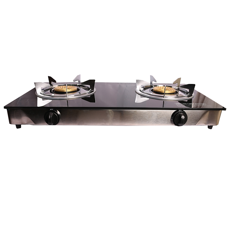Lyons Glass Gas Double Burner Black as from picture 2