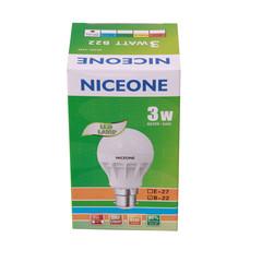 NICEONE B-22 3W Day Light Led Lamp white 7.5cm 3w