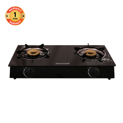 NICEONE Glass Top Gas Stove Double Burner GS007 black one size