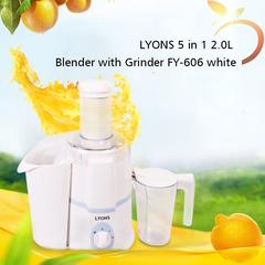 LYONS 5 in 1 2.0L Blender with Grinder FY-606 white